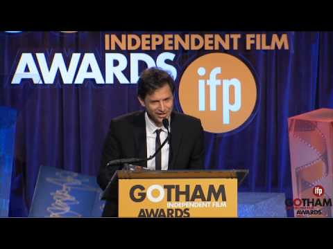 Bennett Miller accepting a Gotham Tribute at the 2014 Gotham Independent Film Awards