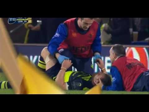 Dylan Hartley's swinging arm on Sean O'Brien