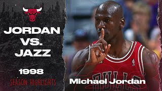 Michael Jordan takes on Karl Malone and the Utah JAZZ - 1998 SEASON HIGHLIGHTS | Chicago bulls