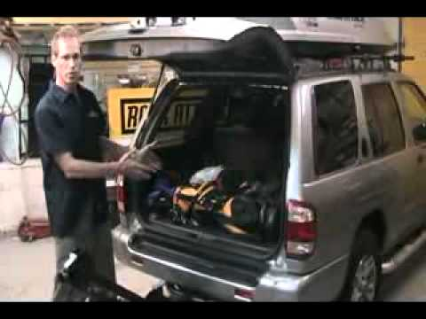 thule 914 roadway 4 bike carrier demo by rack attack youtube. Black Bedroom Furniture Sets. Home Design Ideas
