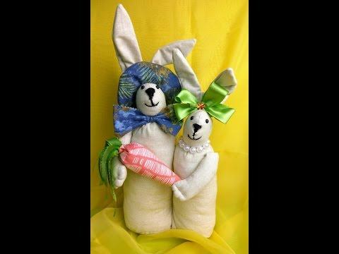Szyjemy Zające Wielkanocne Dekoracje Youtube