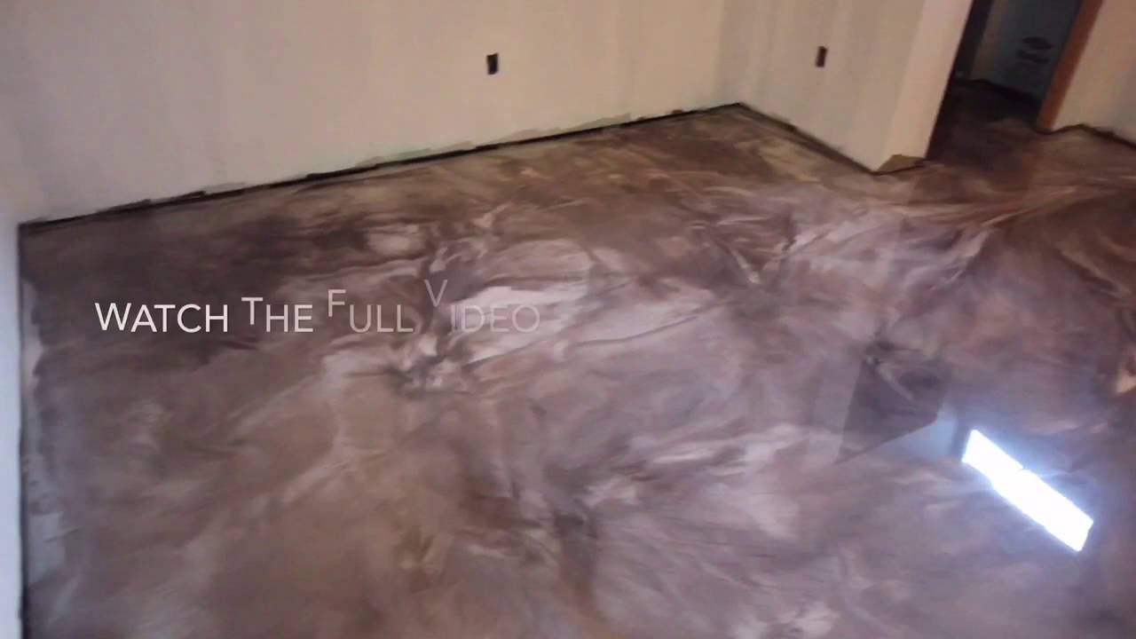 Coffee And Pearl Designer Metallic Floor Coating Youtube