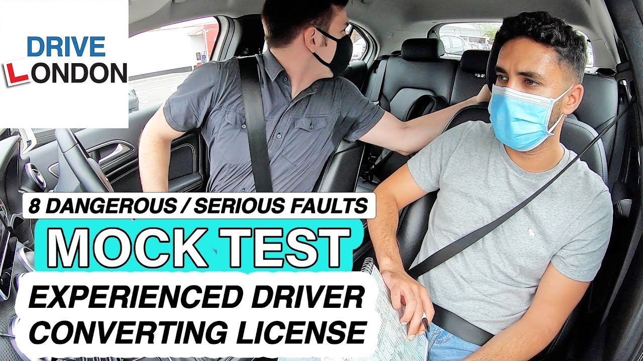 Driving Mock Test | Experienced Driver Needs to Convert License | 8 Dangerous / Serious Faults - UK