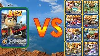 Beach Buggy Racing - All boss Battles - 100HP To 1000HP - Game Play HD