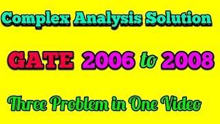 GATE Complex Analysis solution video, GATE Complex Analysis