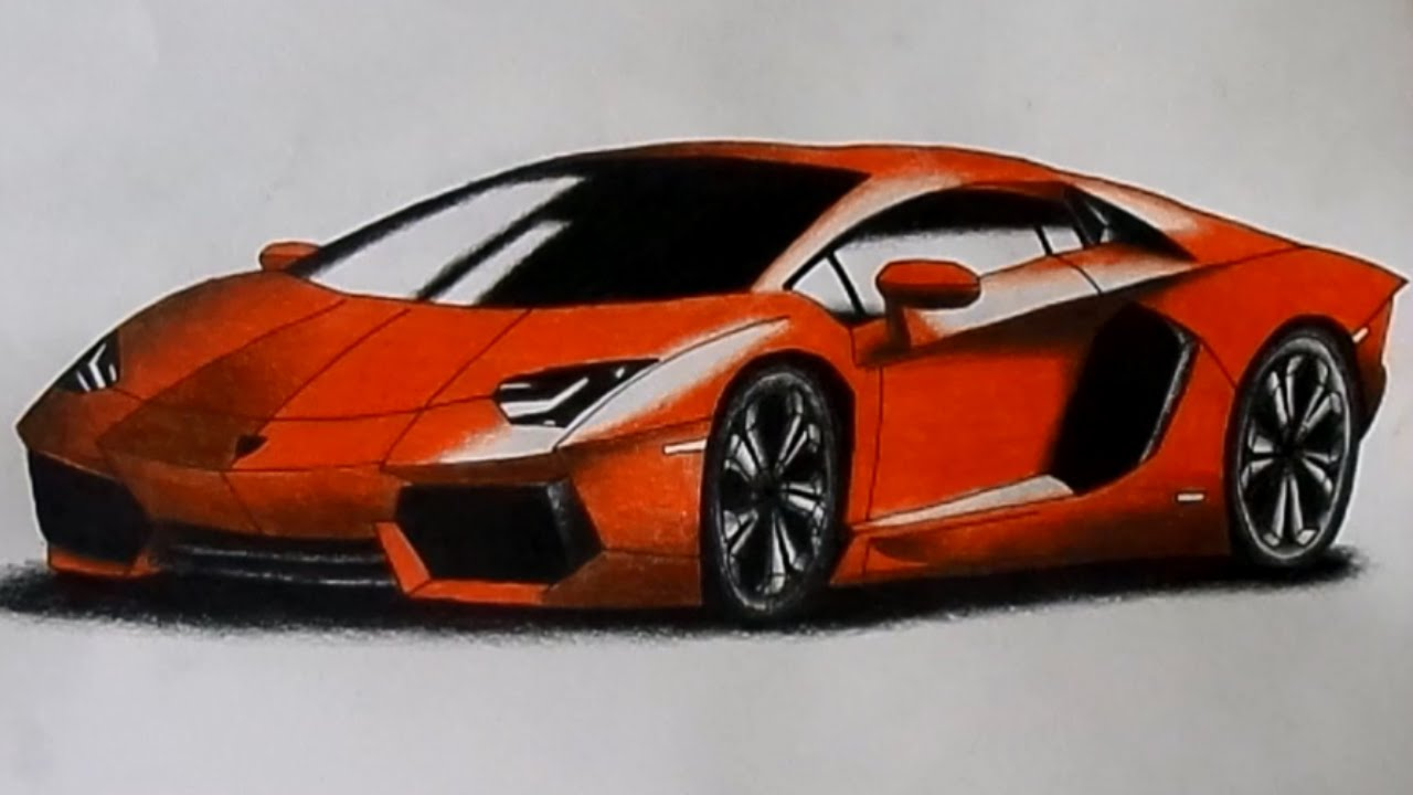 Lamborghini Aventador Drawing Time Lapse Youtube