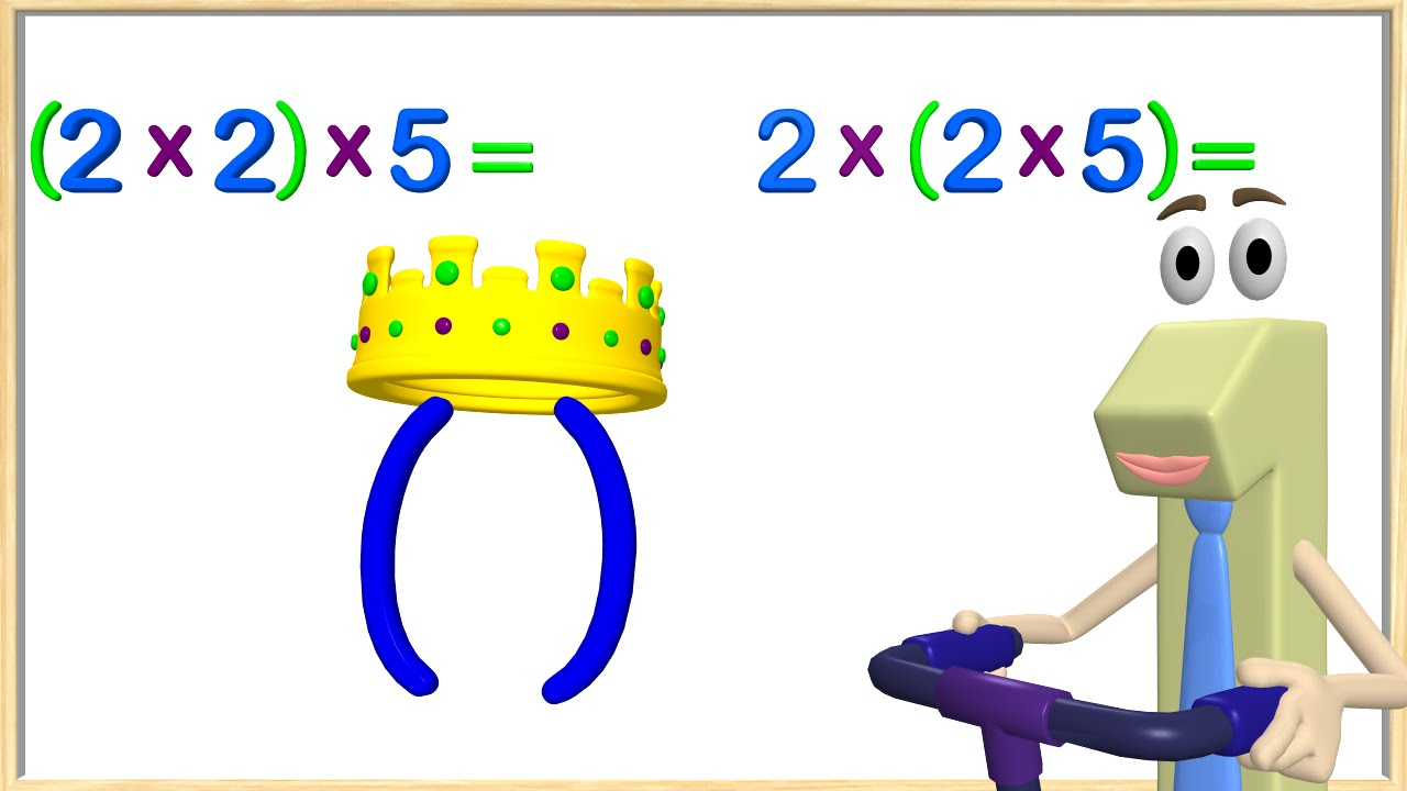 Multiplication Associative Property 3rd Grade - Math Videos for Kids -  YouTube [ 720 x 1280 Pixel ]
