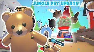 BUYING NEW PETS IN ROBLOX ADOPT ME JUNGLE UPDATE... A TEDDY BEAR PET!