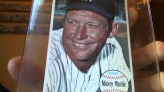 Vintage Mickey Mantle & Willie Mays baseball card collection