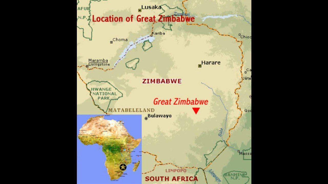 Great Zimbabwe World Map.The History Of Great Zimbabwe Youtube