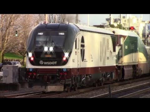Siemens Chargers on 504 and 507! Railfanning Ruston 12/3/17