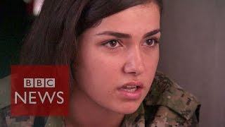 'Islamic State are afraid to see women with guns' - BBC News