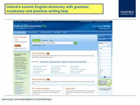 UK library access to Oxford University Press online resources: 2012