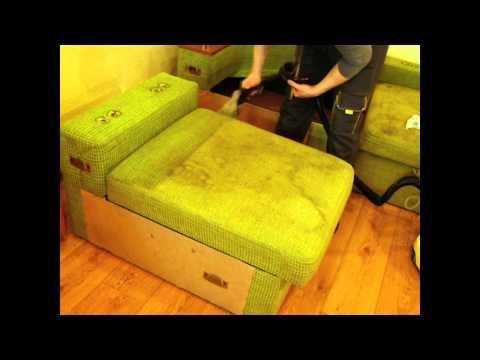 Чистка очень грязного дивана, Днепропетровск