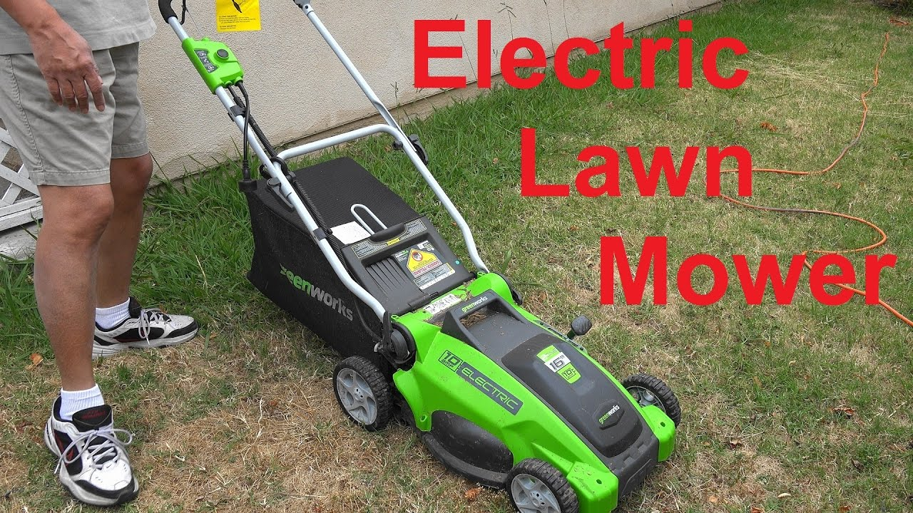 Electric Lawn Mower Sale Electric Lawn Mower From Greenworks 10 Amp 16 Inch Corded Model 25142