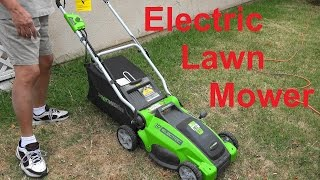 Electric Lawn Mower from GreenWorks, 10 Amp 16-Inch Corded Model 25142