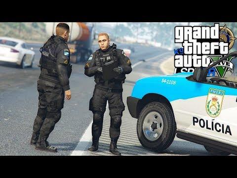GTA V : MOD POLICIA : QUEM PROVOCOU O ACIDENTE NA BR? PRIMEIRA PESSOA PMERJ : EP. 207