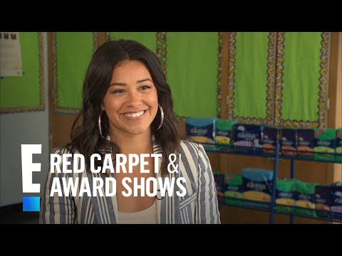 Gina Rodriguez Partners With Always to Fight Period Poverty | E! Live from the Red Carpet