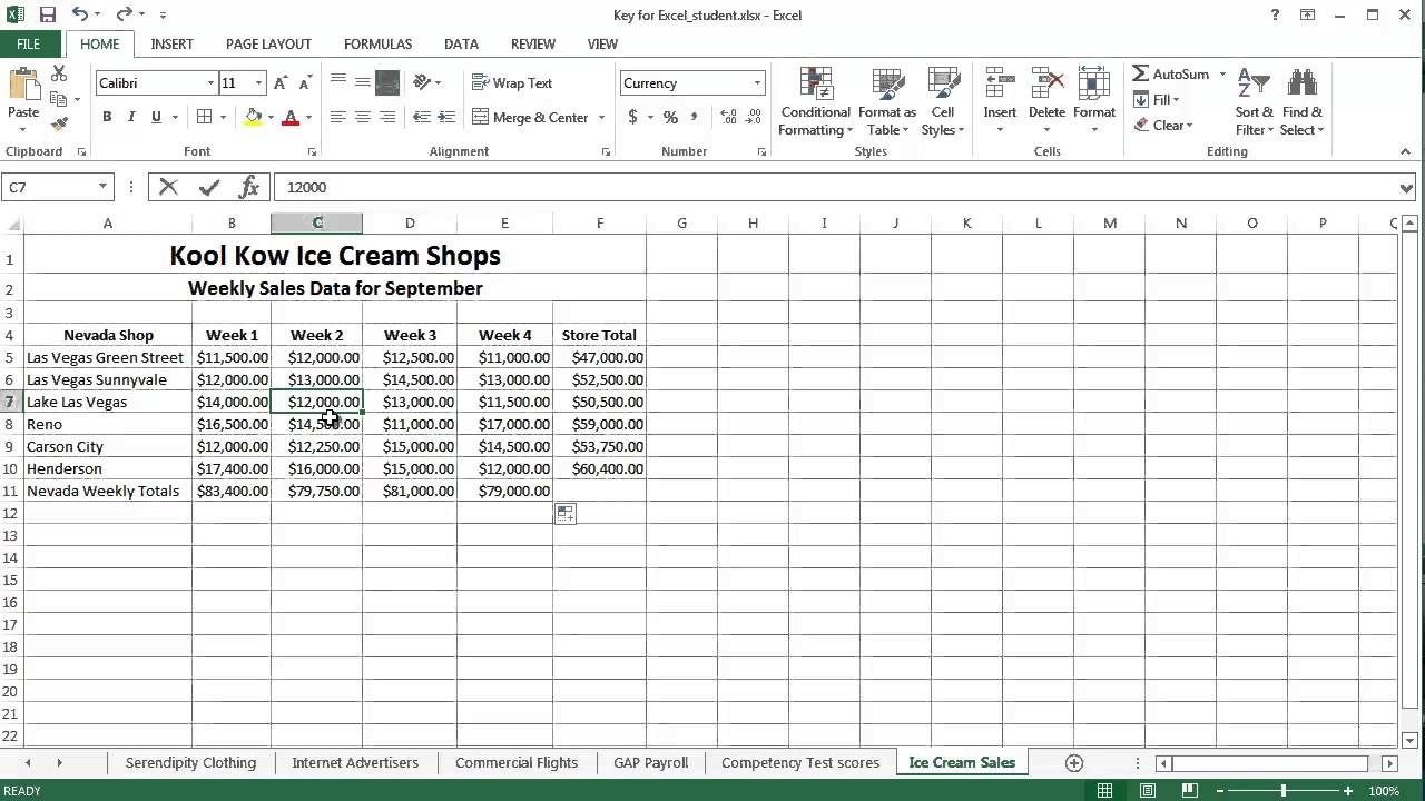 excel assignment 5