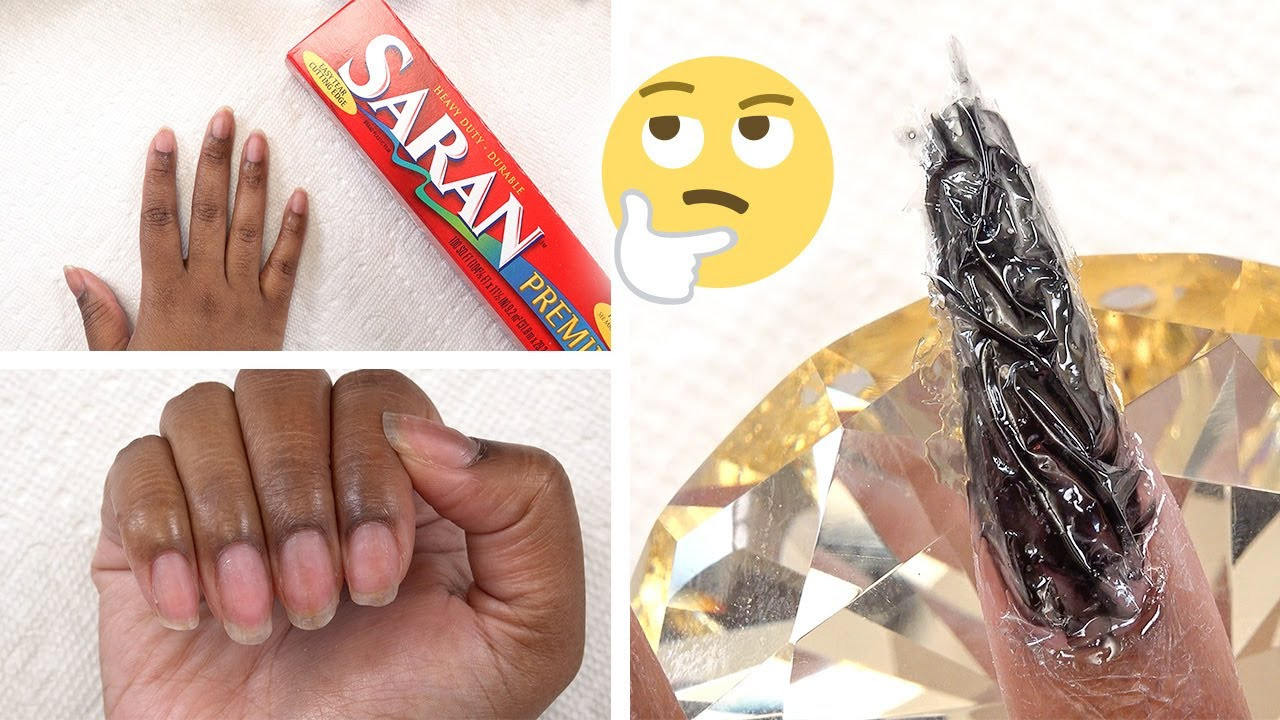 Trying Plastic Wrap Nails (even though everyone else has)