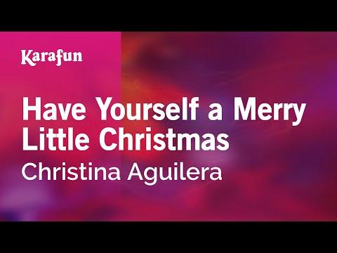 karaoke have yourself a merry little christmas christina aguilera