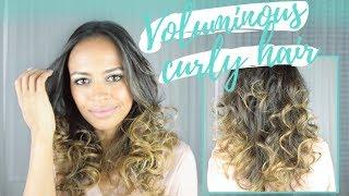 FLAWLESS VOLUMINOUS CURLY HAIR TUTORIAL 💁🏽♀ MIRA CURL | Sous-titré en FR | Legendado em PT
