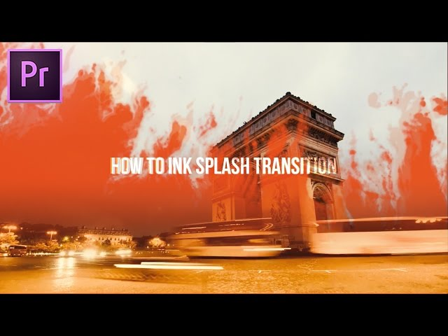 DOPE Ink Drop Transition Effect How to (Adobe Premiere Pro CC 2017 Tutorial)