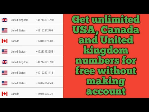 Get unlimited USA,Canada and United kingdom mobile numbers for free without making account