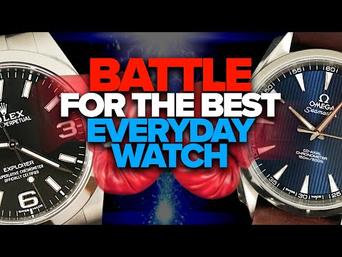 The BATTLE For The BEST Everyday Watch: OMEGA Aqua Terra Vs. ROLEX Explorer Review