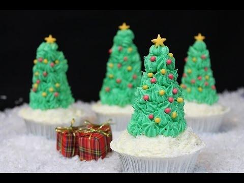 Muffin Tannenbaum.Weihnachtsbaum Cupcakes Christmas Tree Cupcakes