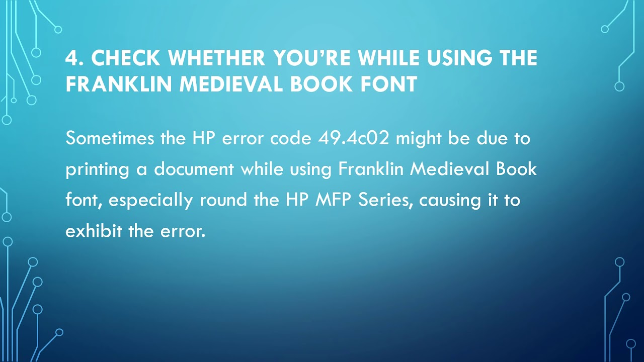 How to fix 49.4c02 error on your HP Printer - YouTube