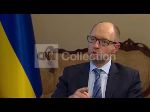 UKRAINE: YATSENYUK - NO TRUST OF THE RUSSIANS