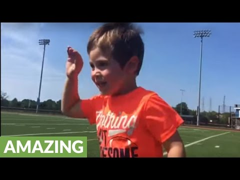 4-year-old drills 10 yard field goal