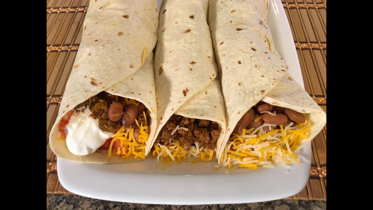 How to make burritos mexican food recipes beefbeanscheese youtube forumfinder Gallery
