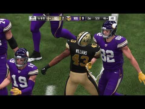 Madden 19 Week 8 Saints VS Vikings