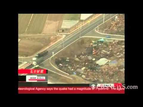 Tsunami blankets Japan coast