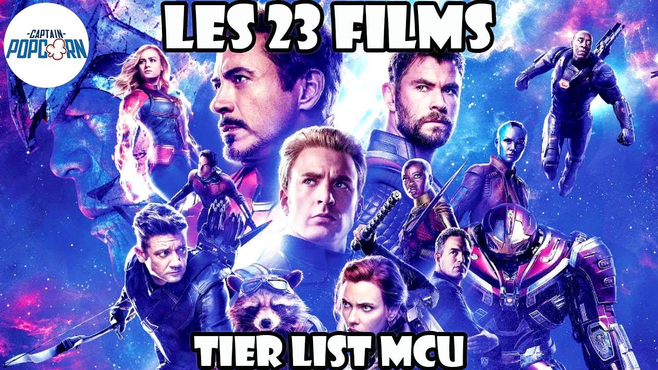 LES 23 FILMS du MCU classés et commentés + Tier List
