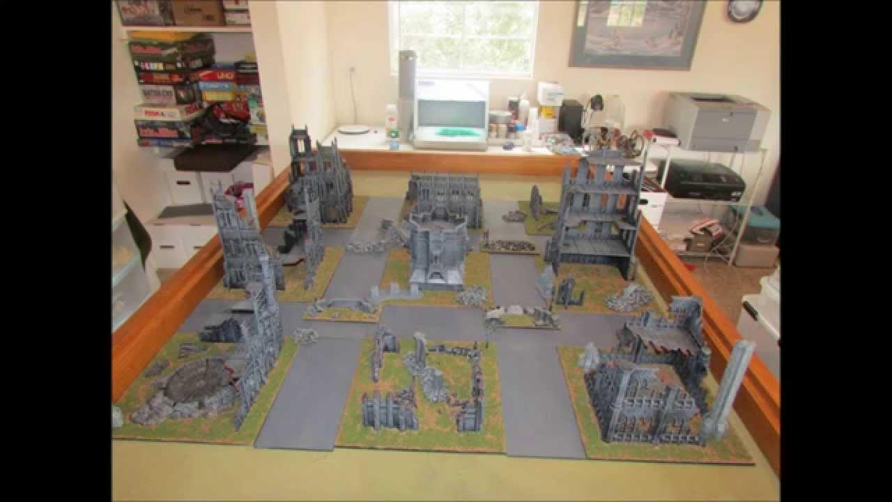 Warhammer 40K Cityfight Terrain Board WH40K