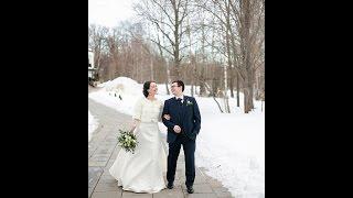 Свадьба за городом в золотом стиле. Венера и Дмитрий, зима 2016 год