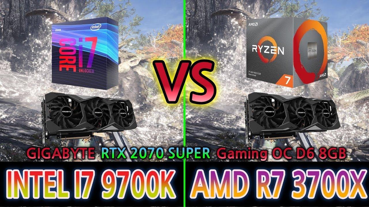 INTEL I7 9700K vs AMD R7 3700X (GIGABYTE RTX 2070 SUPER) 1080P Game Play  benchmark test 15 Games