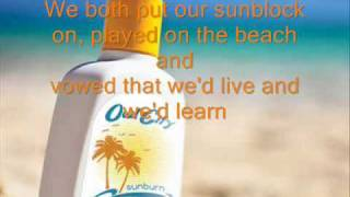 Owl City - Sunburn HQ Lyrics