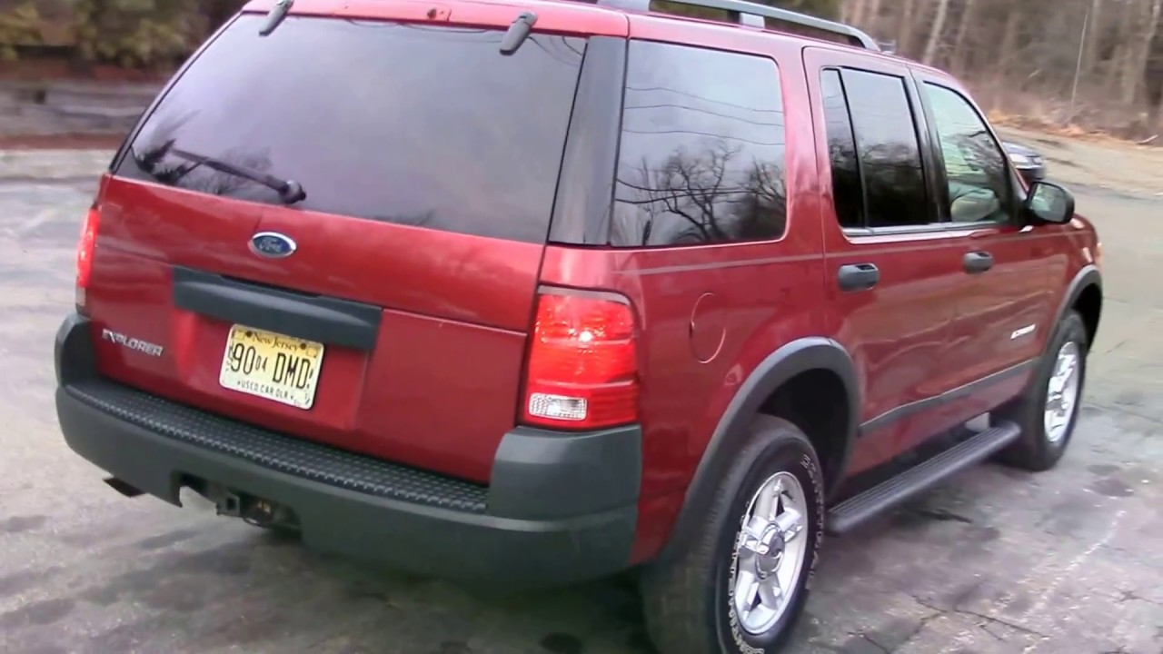 2004 Ford Explorer Xls 4wd Red For Sale
