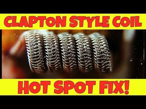 Vaping: Clapton Coil Hot Spot Fix! Coil Building Tip!