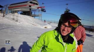 Wintersportler genießen Neujahrstag am Fichtelberg