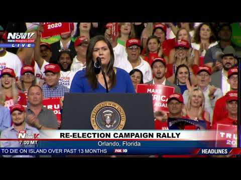 STANDING OVATION: Sarah Sanders Farewell Statement at President Trump Rally