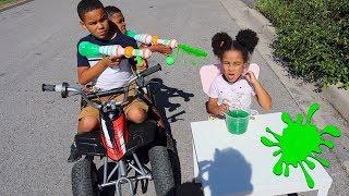 Drive Thru Slime Prank on Baby Sister! FamousTubeKIDS
