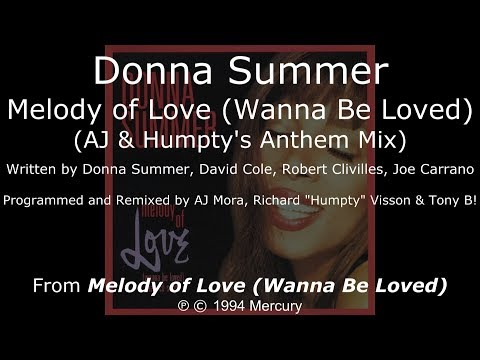 Donna Summer - Melody of Love (AJ & Humpty's Anthem Mix) LYRICS - SHM