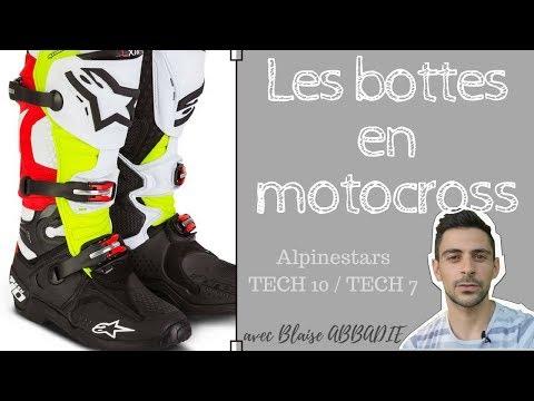 Les Bottes En Motocross Comparatif Des Alpinestars Tech 7