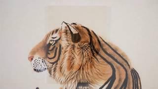 [에덴미술] 호랑이그림 상세 영상