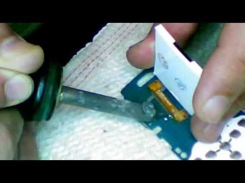 samsung e1175t change lcd remplace تغيير الشاشة